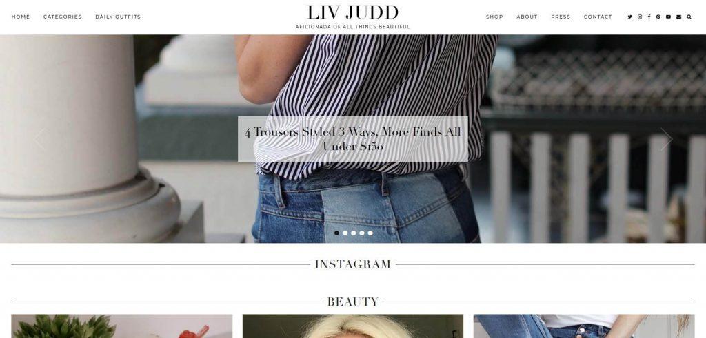 Liv Judd Homepage