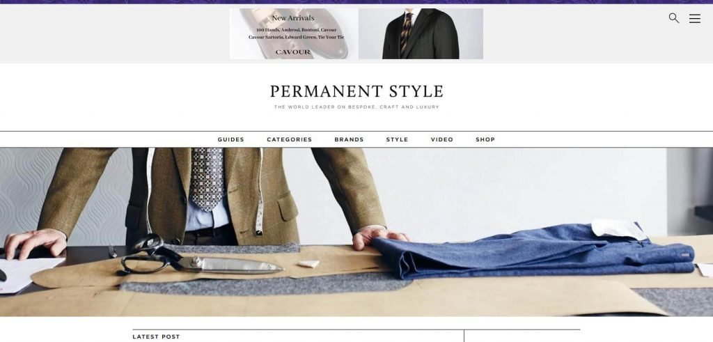 Permanent Style Homepage