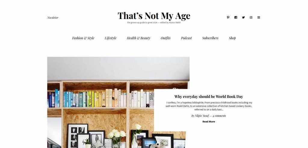 That's not My Age Homepage