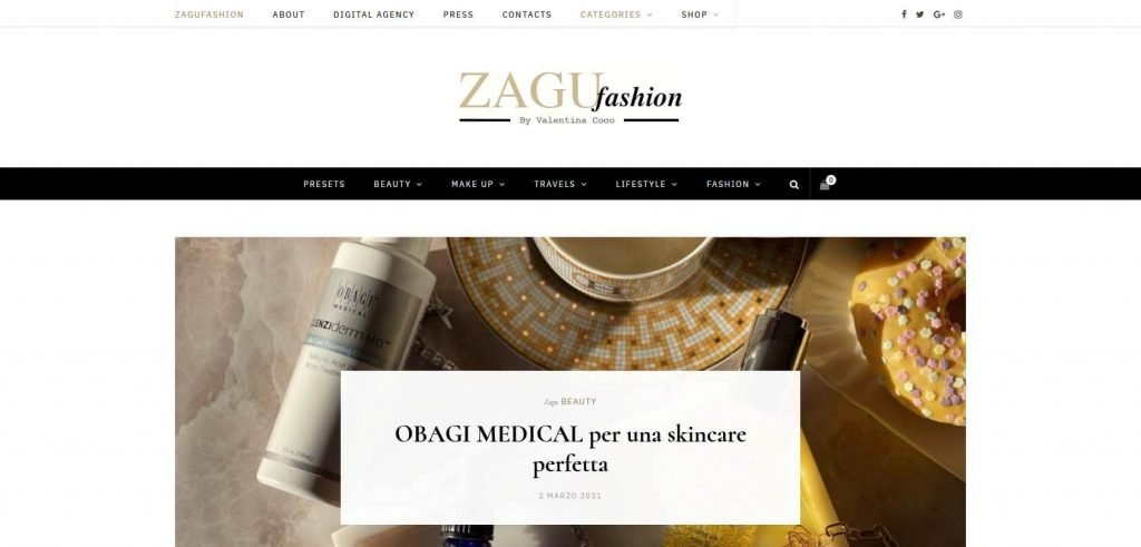Zagu Fashion Homepage
