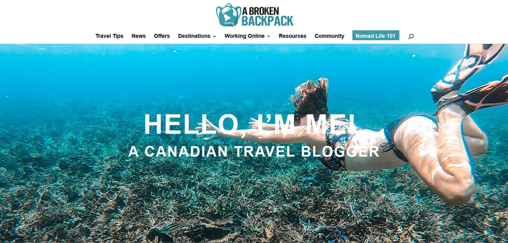 A Broken Backpack Homepage