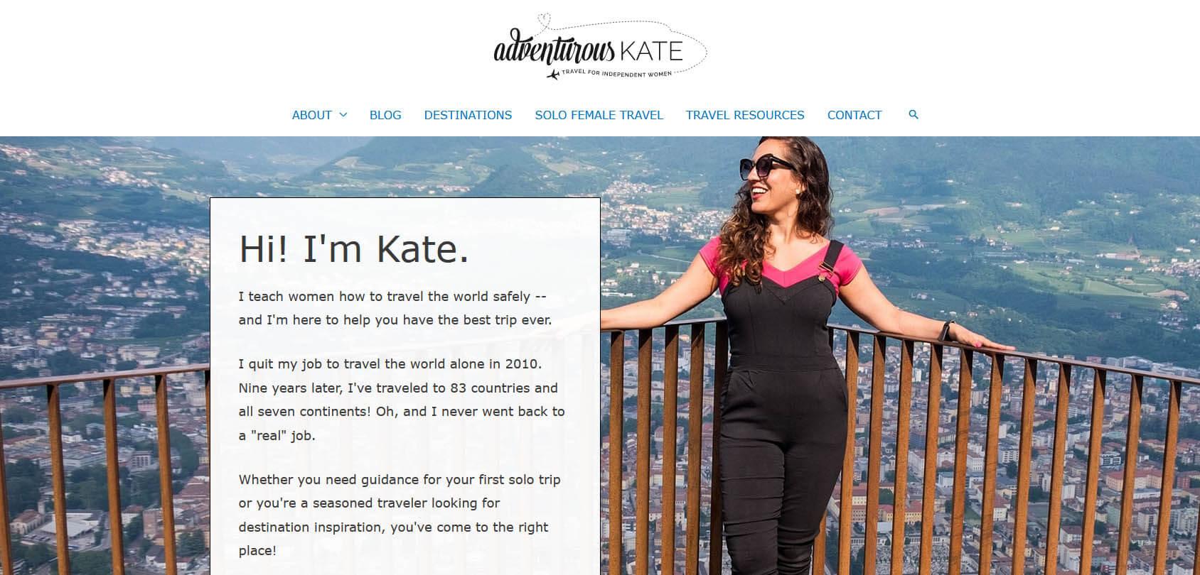 Adventurous Kate Homepage