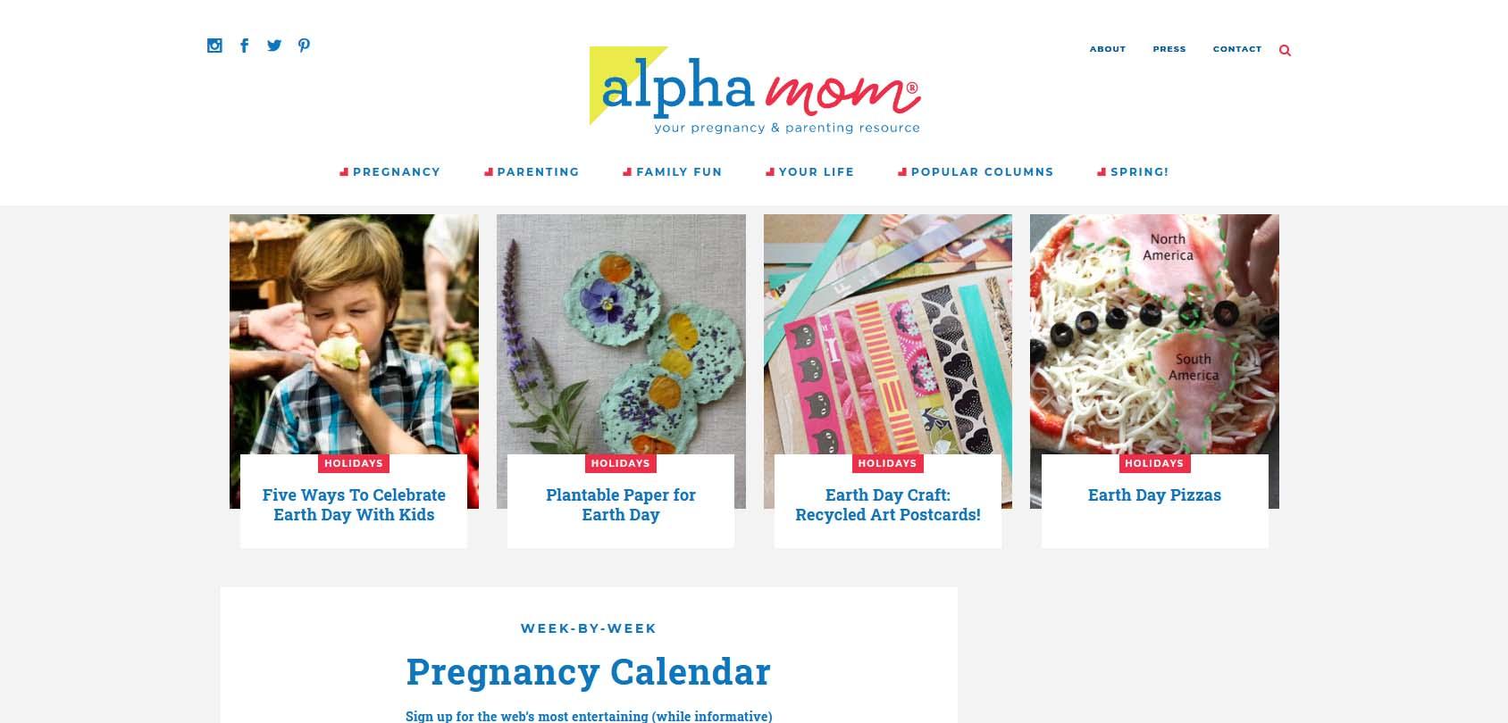 Alpha Mom Homepage