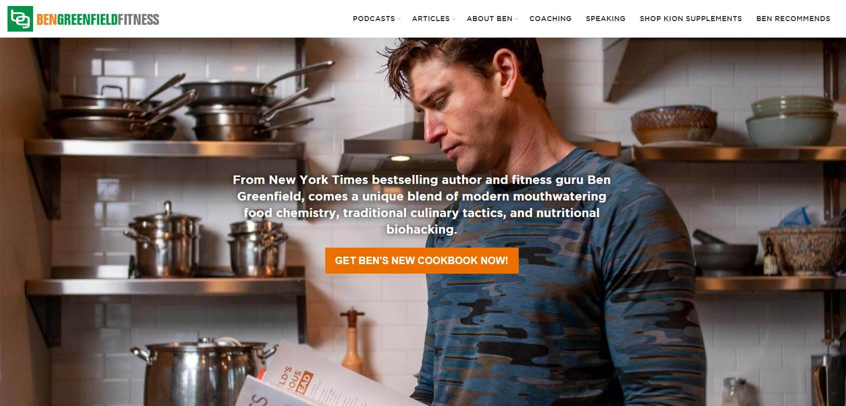 Ben Greenfield Fitness Homepage