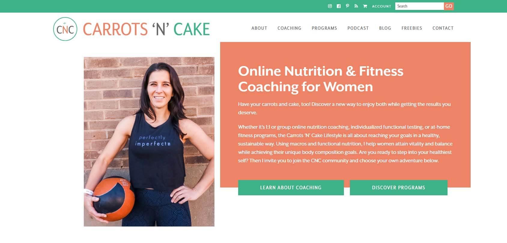 Carrots 'N' Cake Homepage