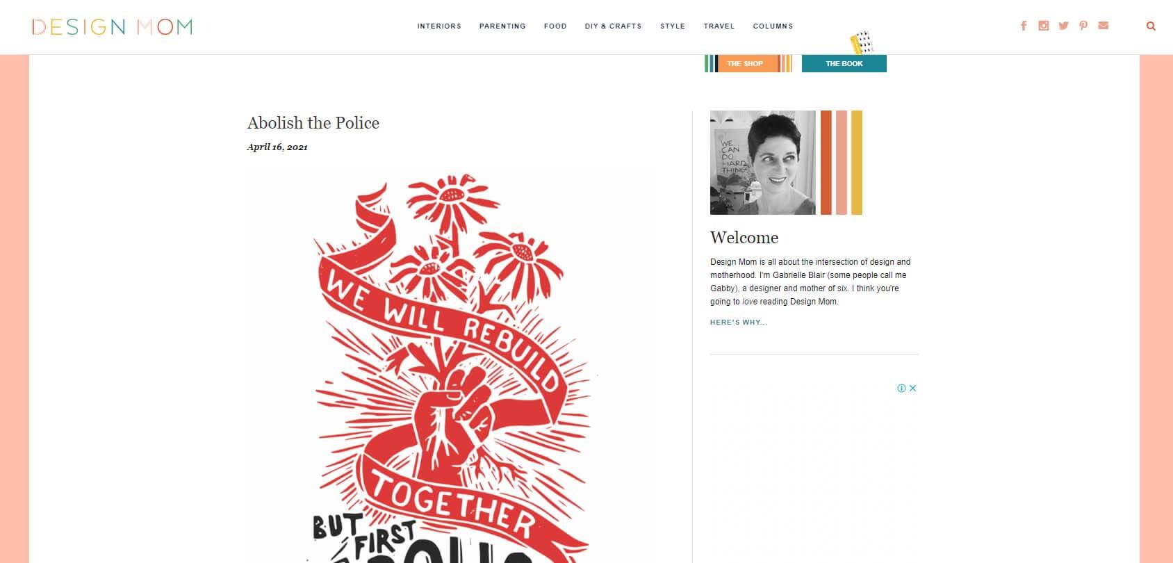 Design Mom Homepage