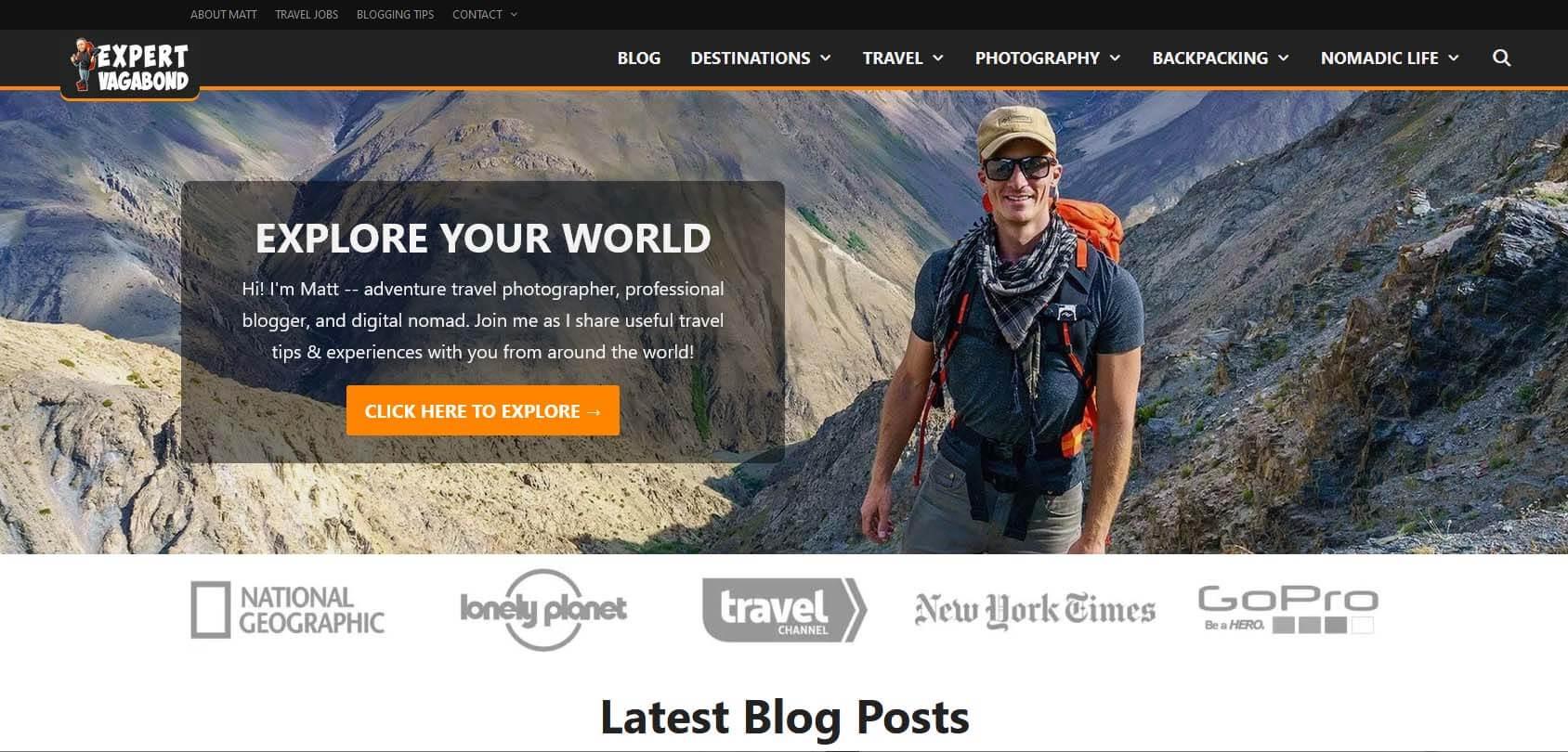 Expert Vagabond Homepage