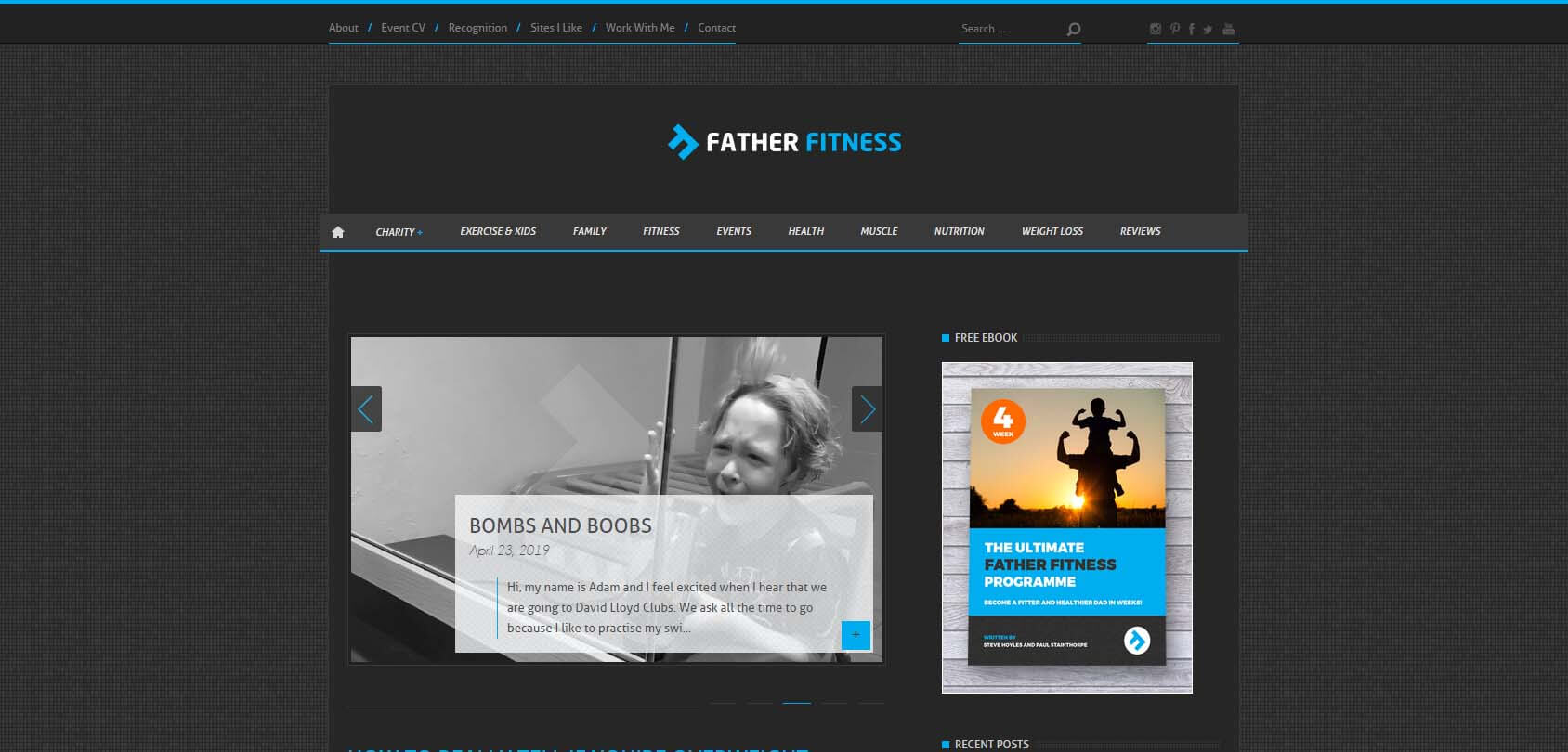 Father Fitness Homepage