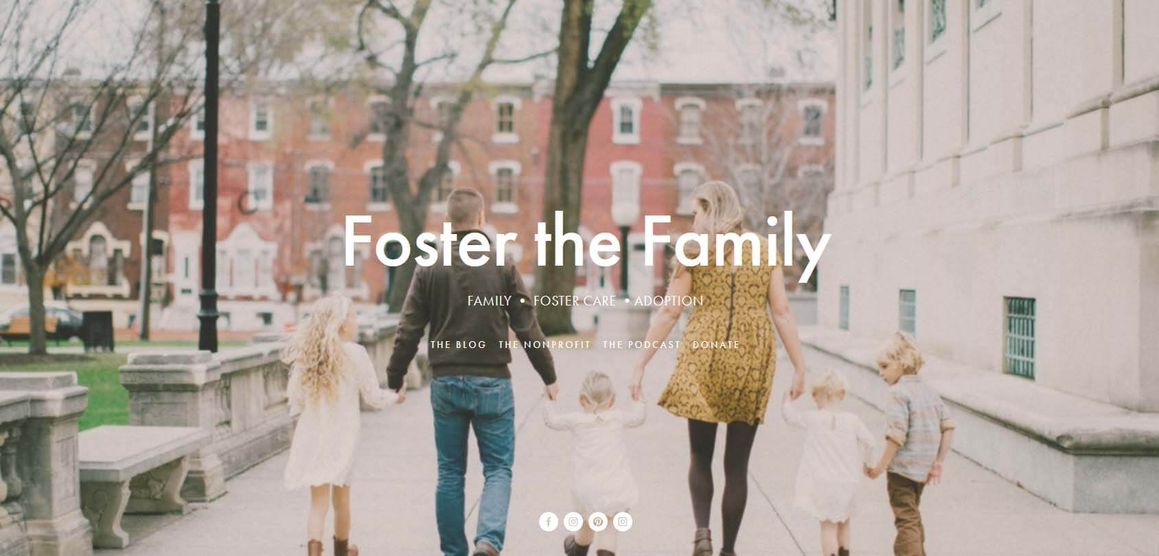 Foster the Family Homepage