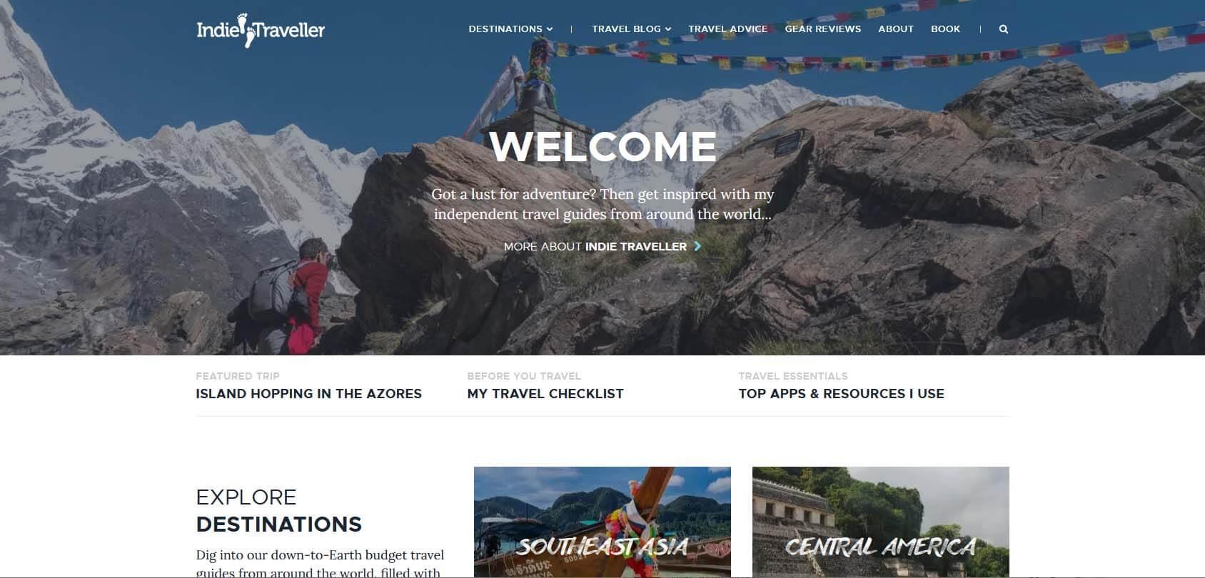 Indie Traveller Homepage