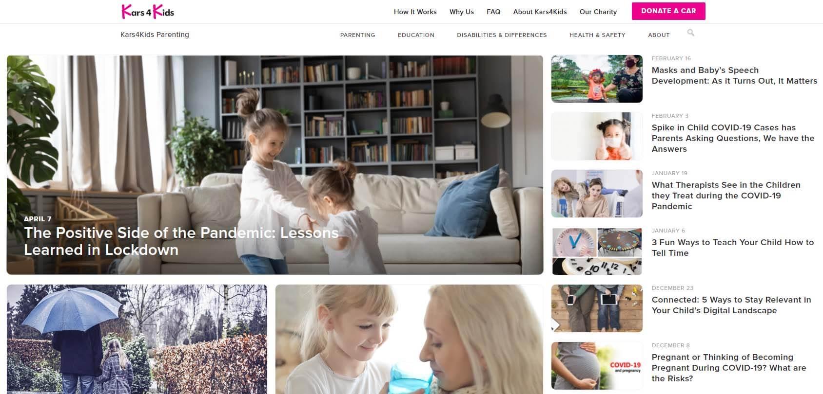Kars4Kids Homepage