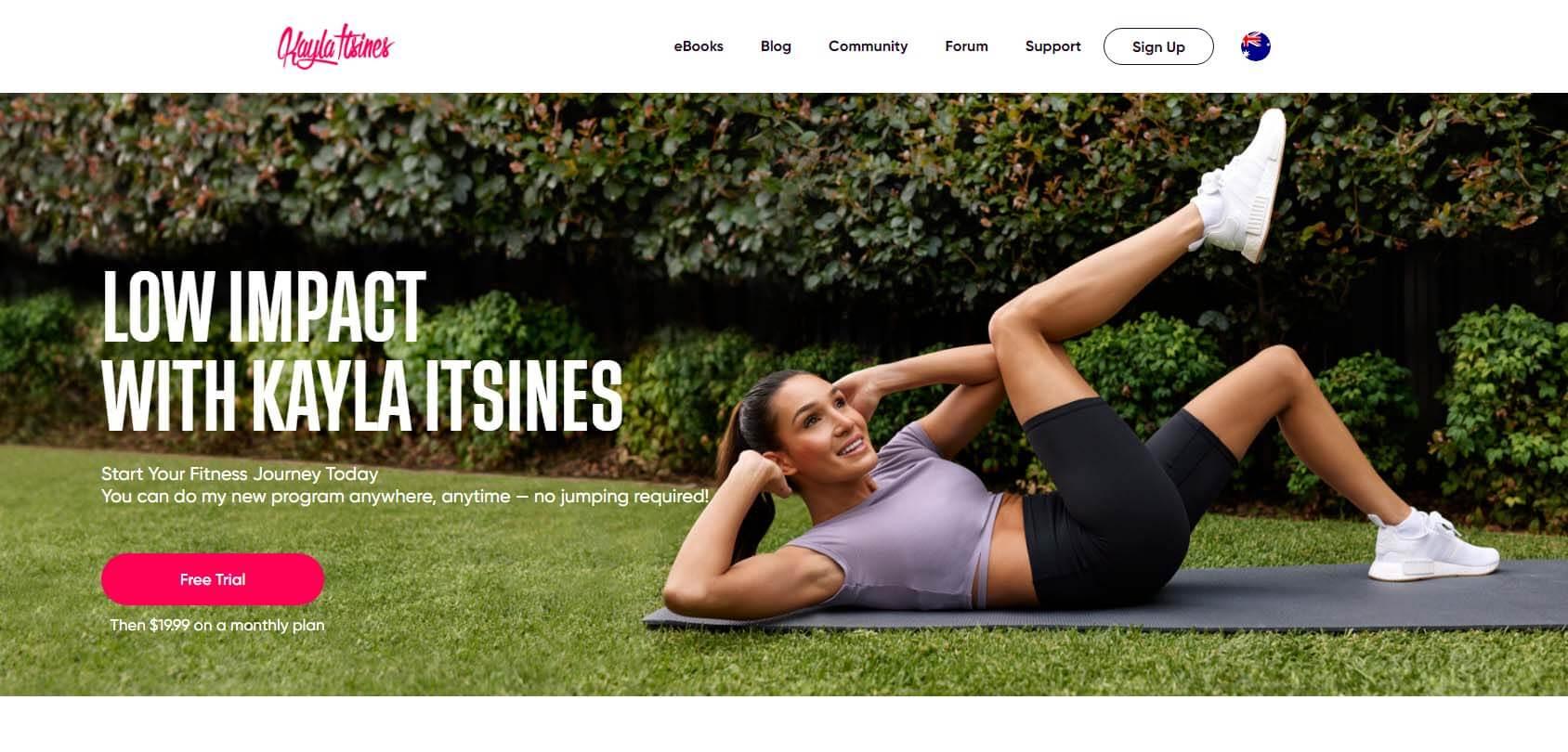 Kayla Itsines Homepage
