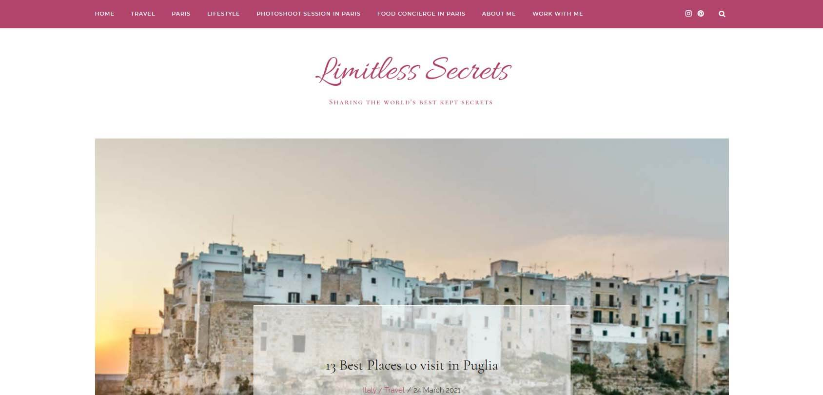 Limitless Secrets Homepage