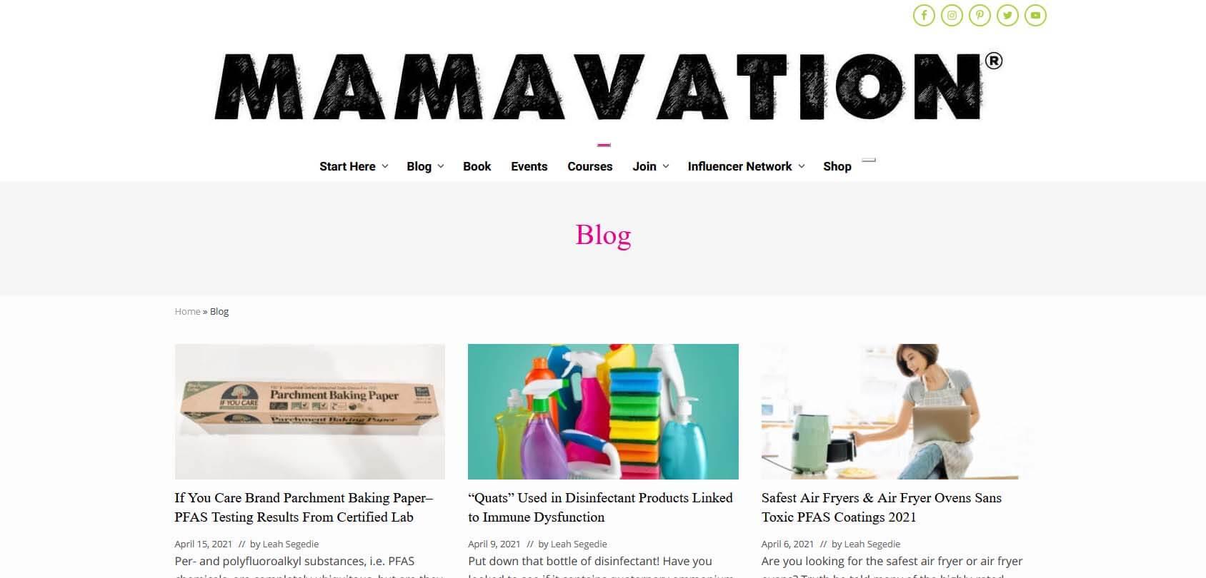 Mamavation Homepage