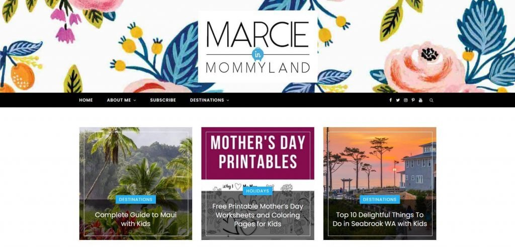 Marcie in Mommyland Homepage