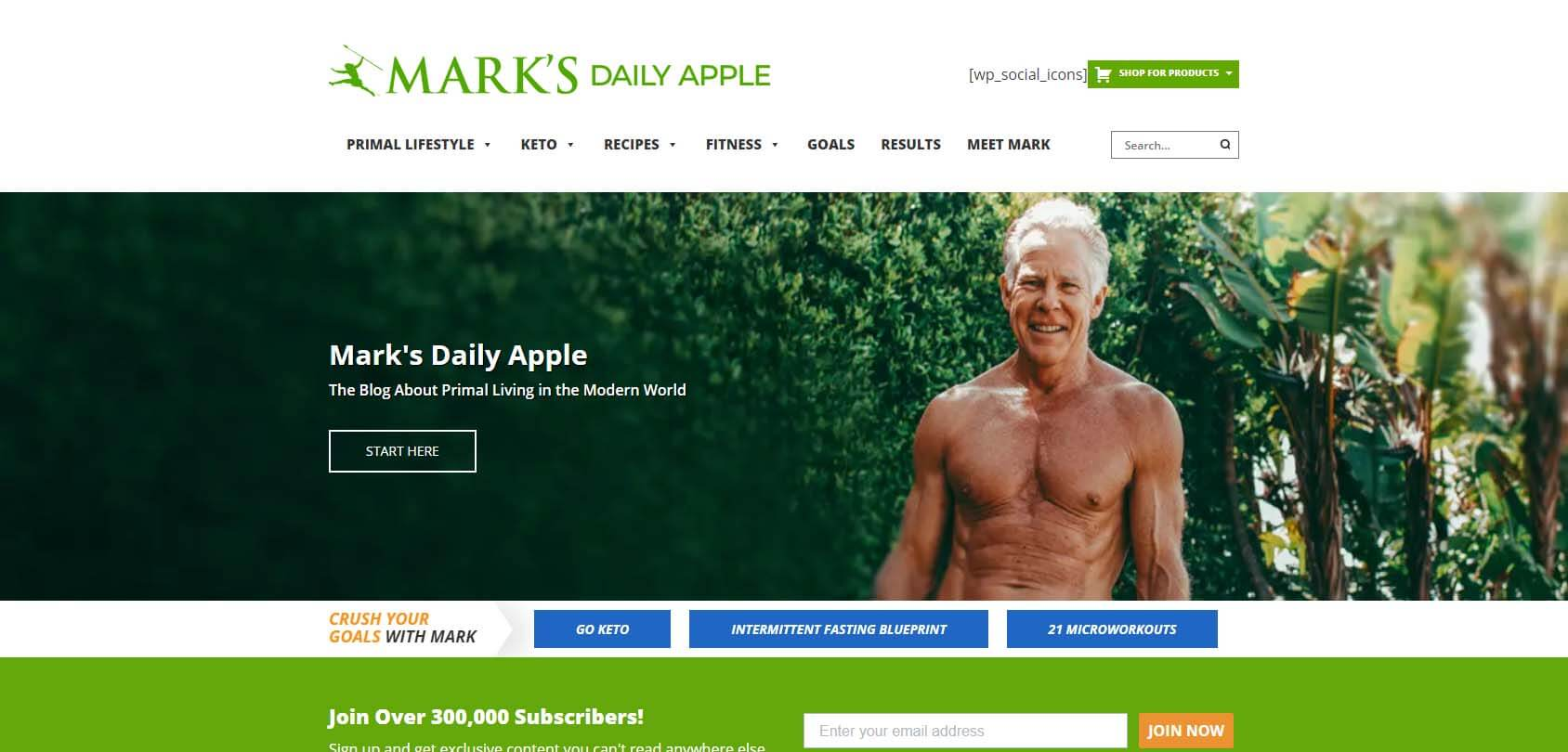 Mark's Daily Apple Homepage