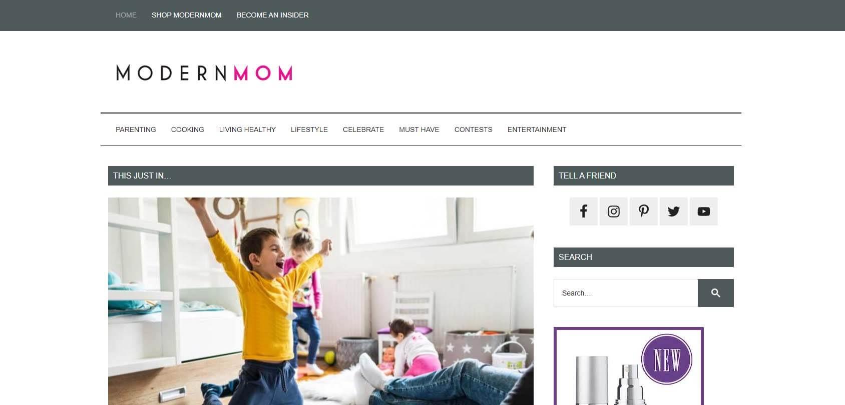 ModernMom Homepage