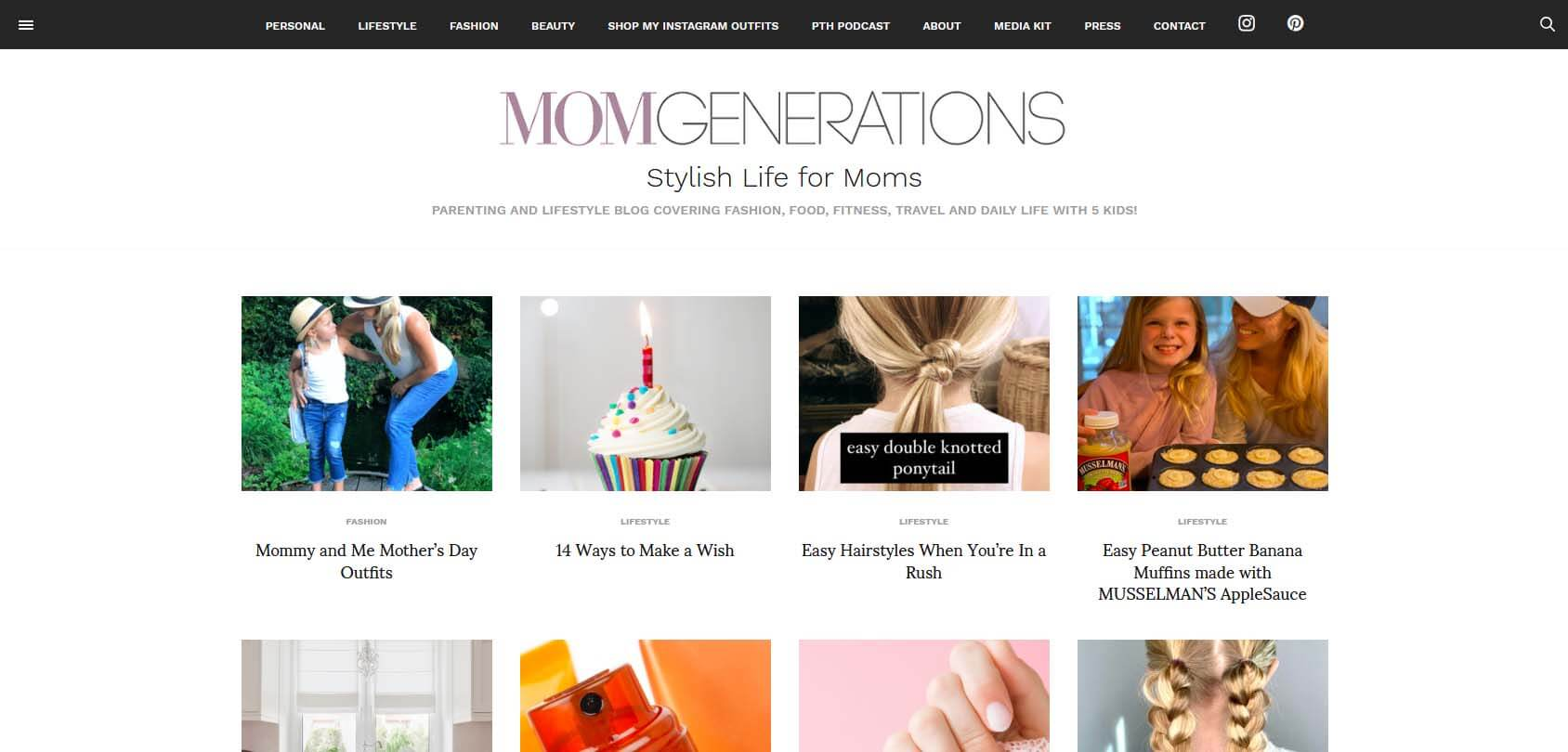 Mom Generations Homepage