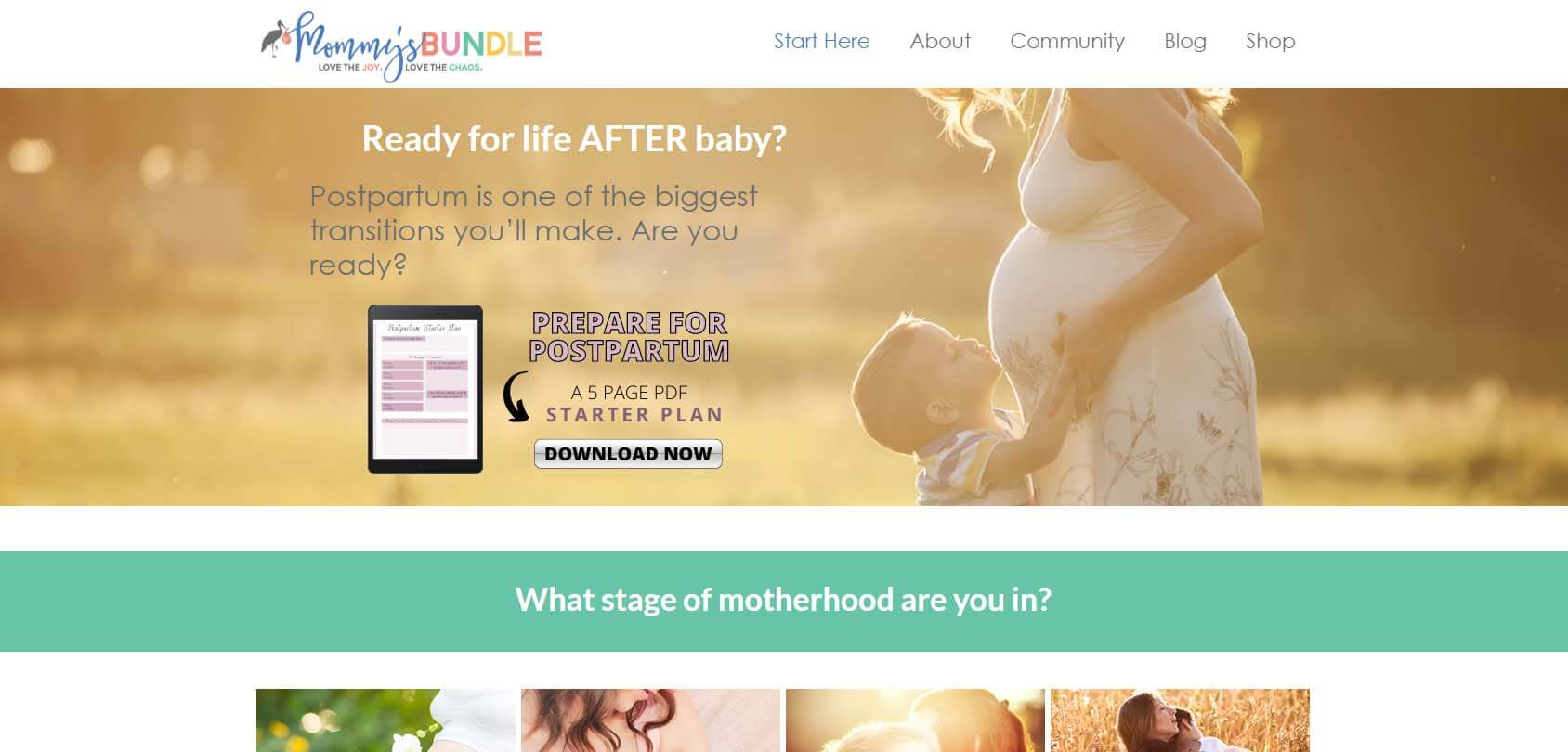 Mommy's Bundle Homepage