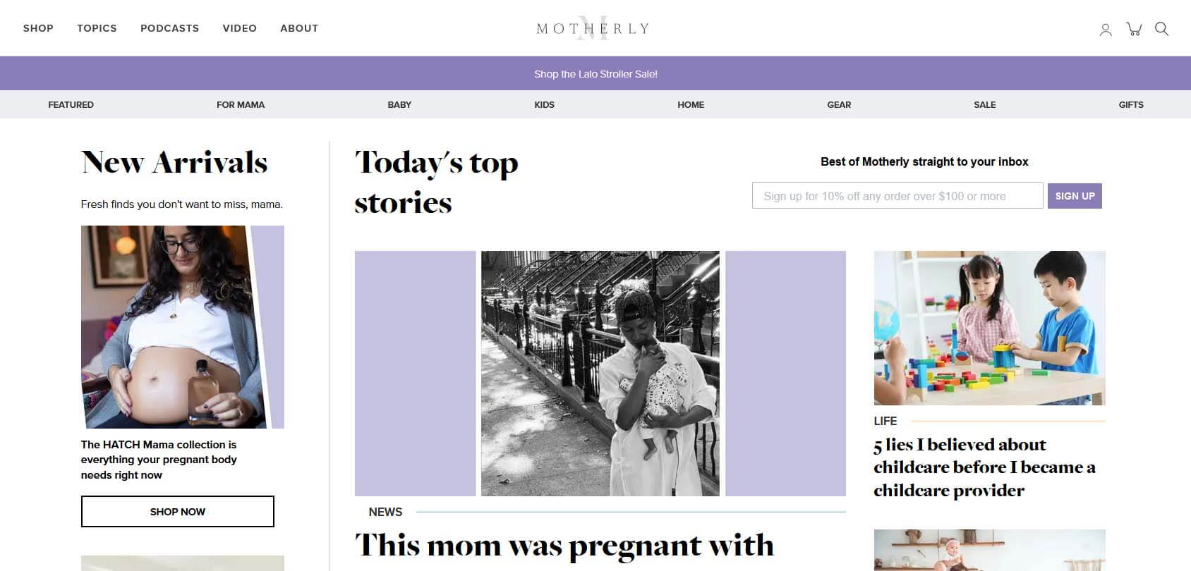 Motherly Homepage