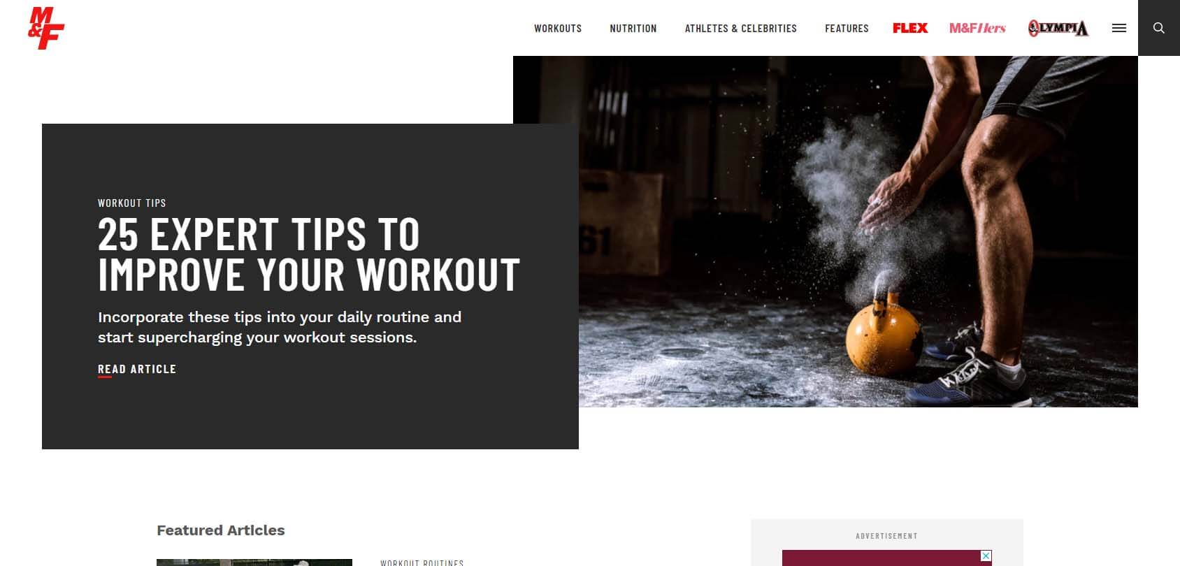 Muscle and Fitness Homepage