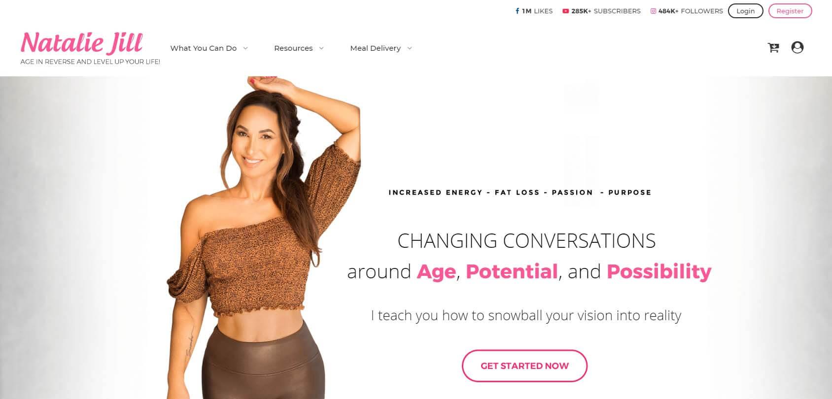 Natalie Jill Homepage