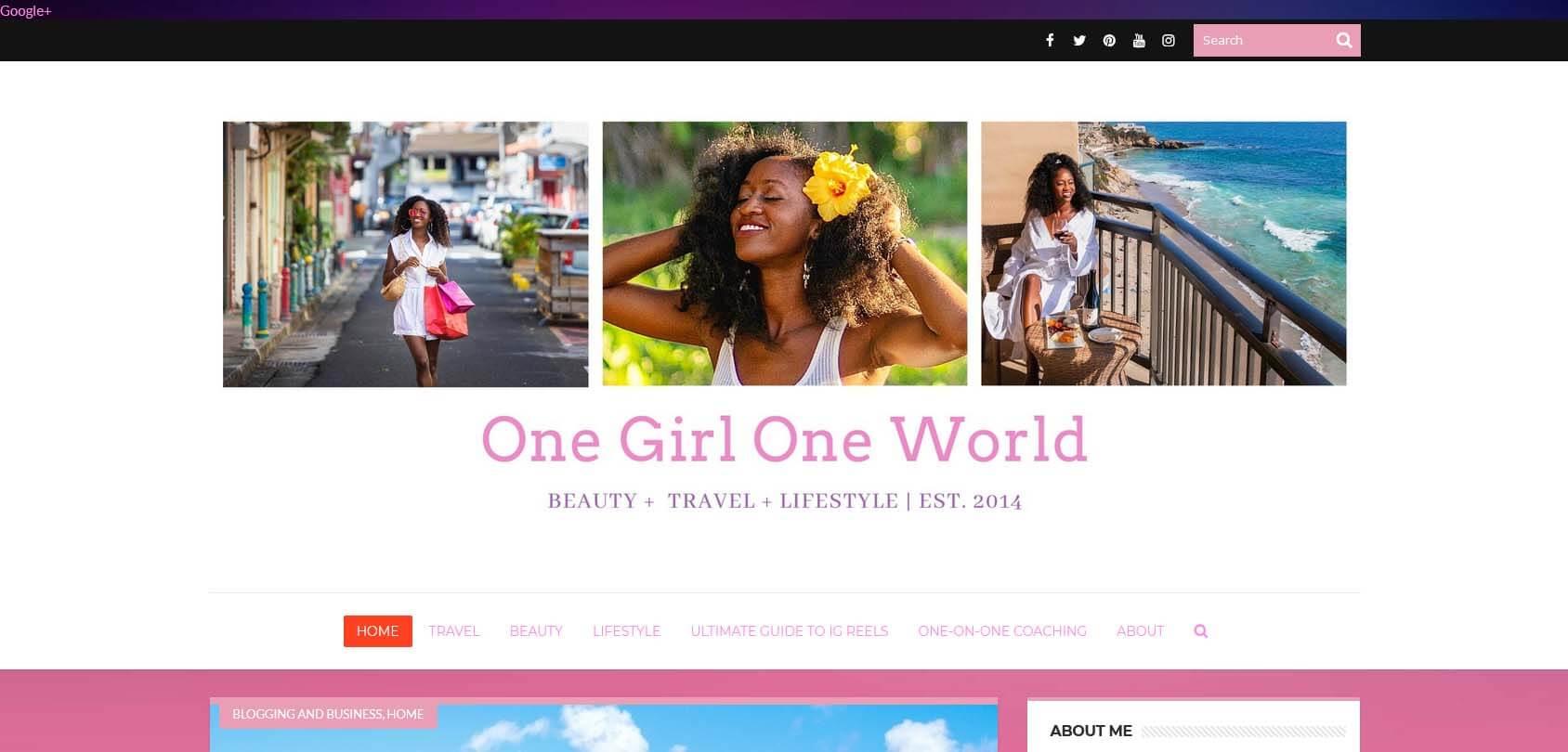 One Girl One World Homepage