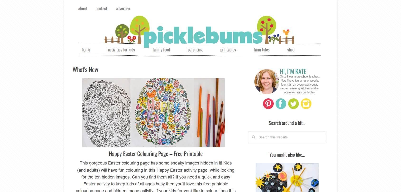 Picklebums Homepage