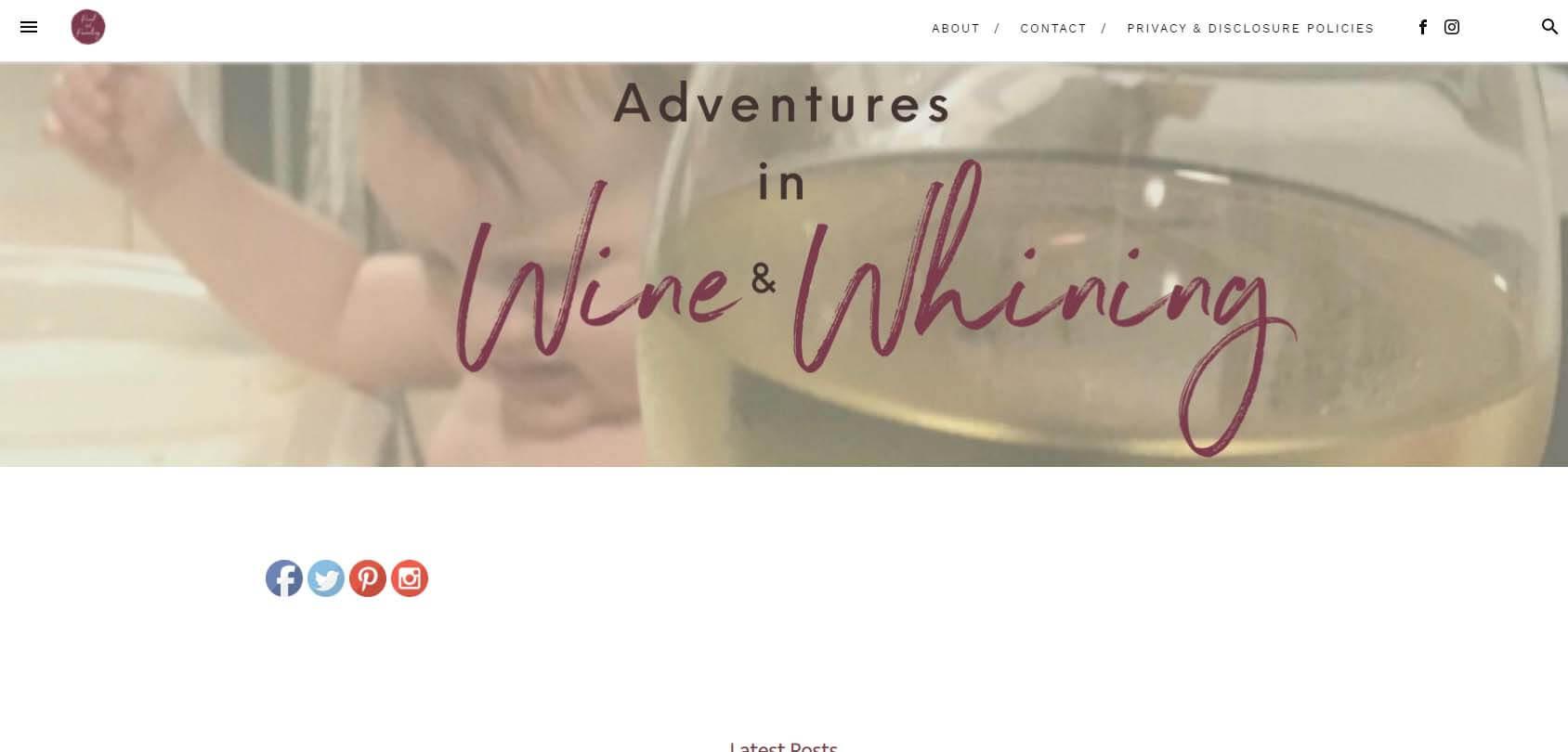 Pinot & Parenting Homepage