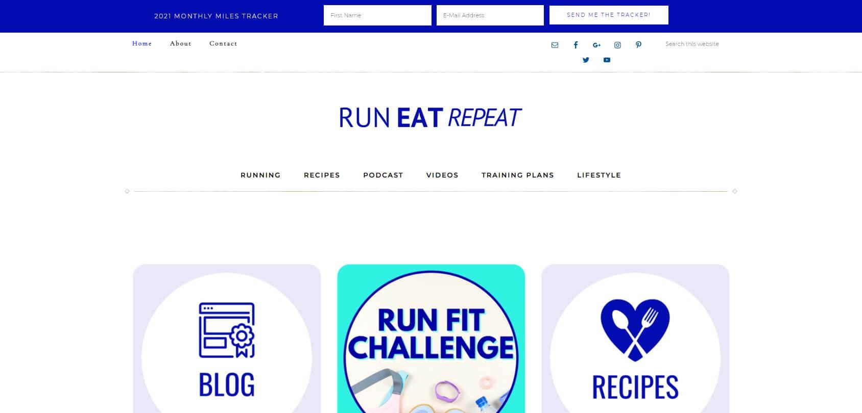 Run Eat Repeat Homepage
