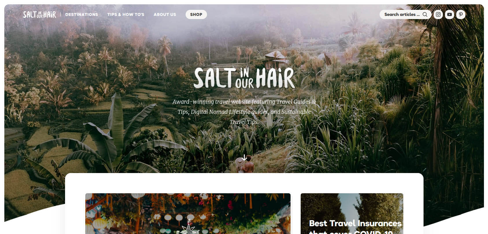 Salt in Our Hair Homepage