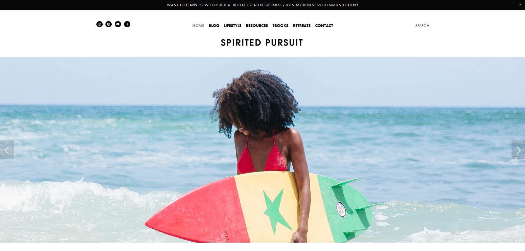 Spirited Pursuit Homepage