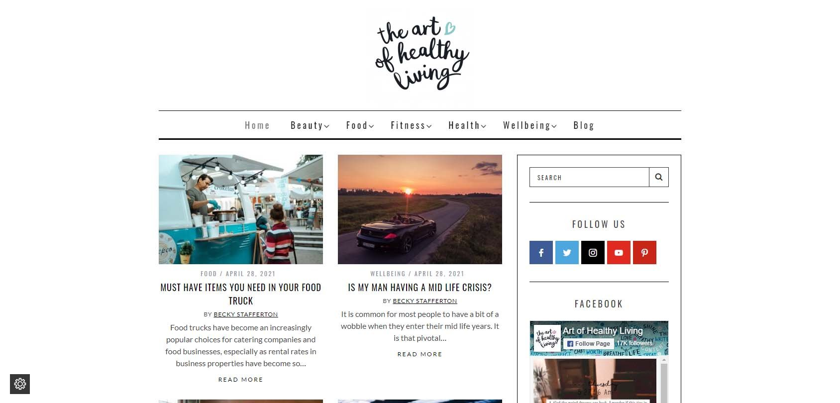 The Art of Healthy Living Homepage