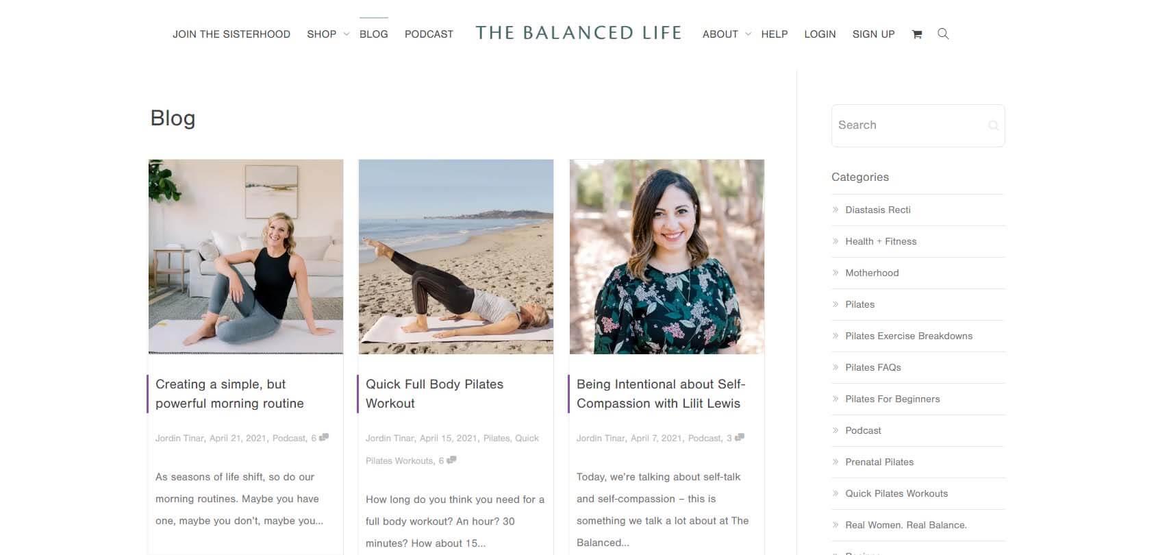 The Balanced Life Homepage