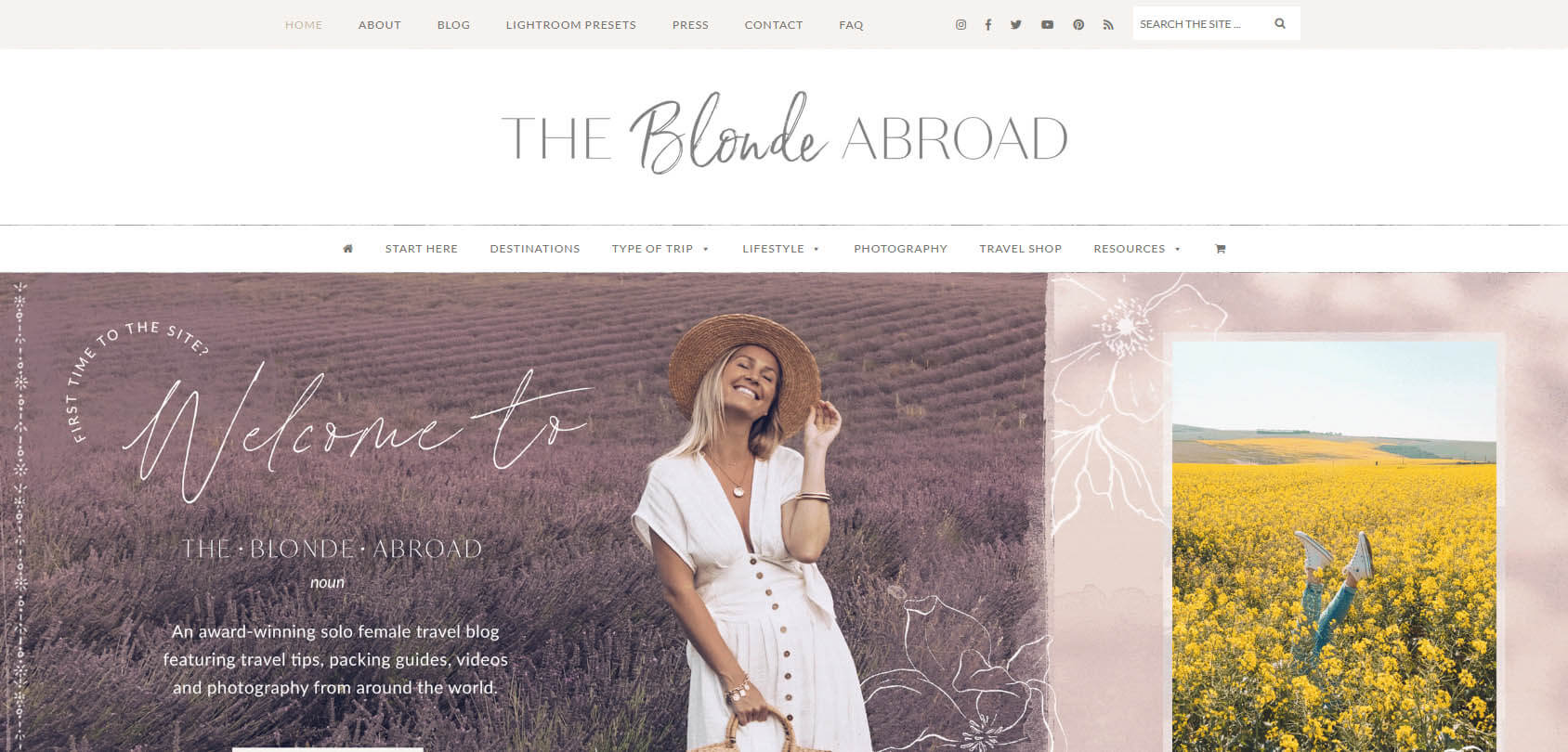 The Blonde Abroad Homepage