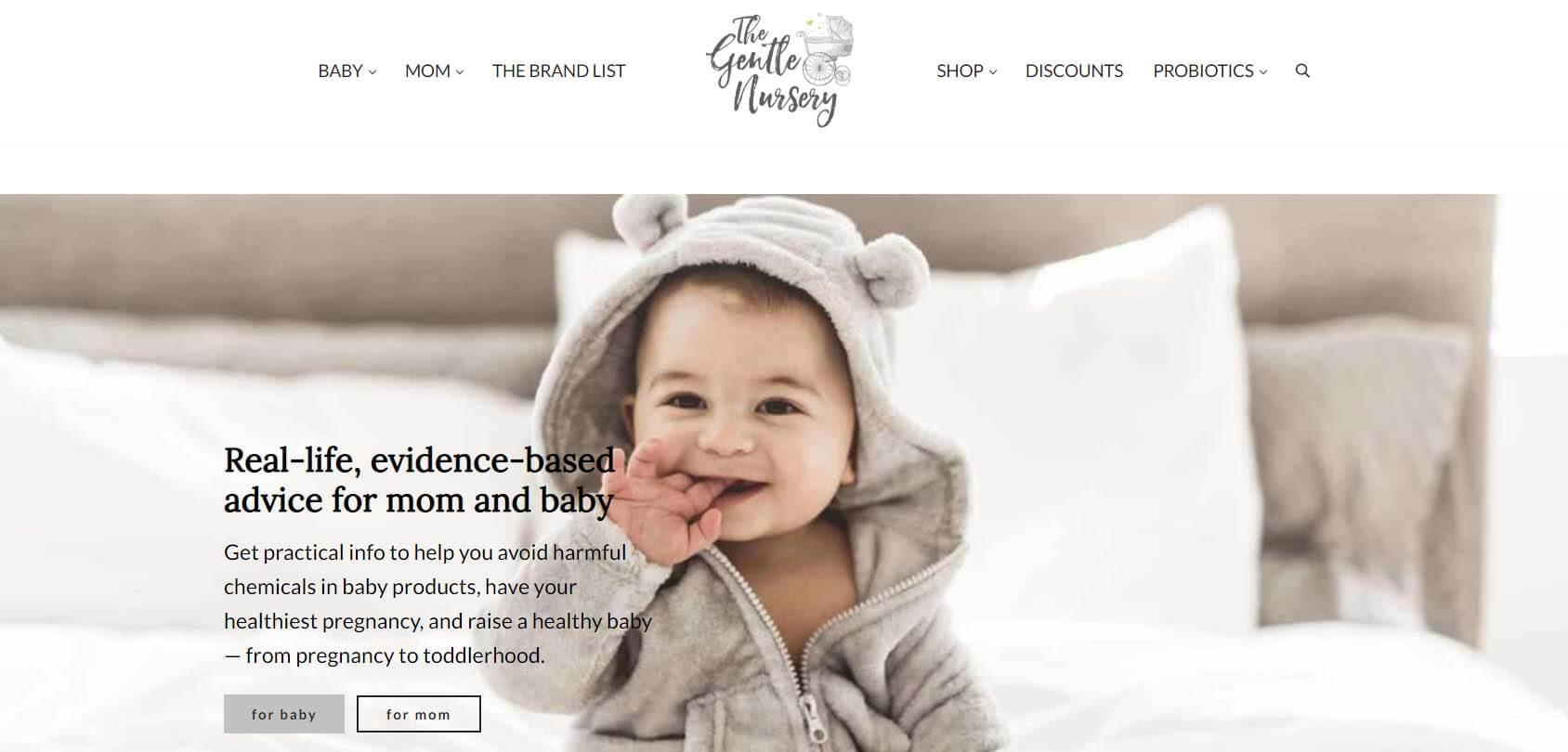The Gentle Nursery Homepage