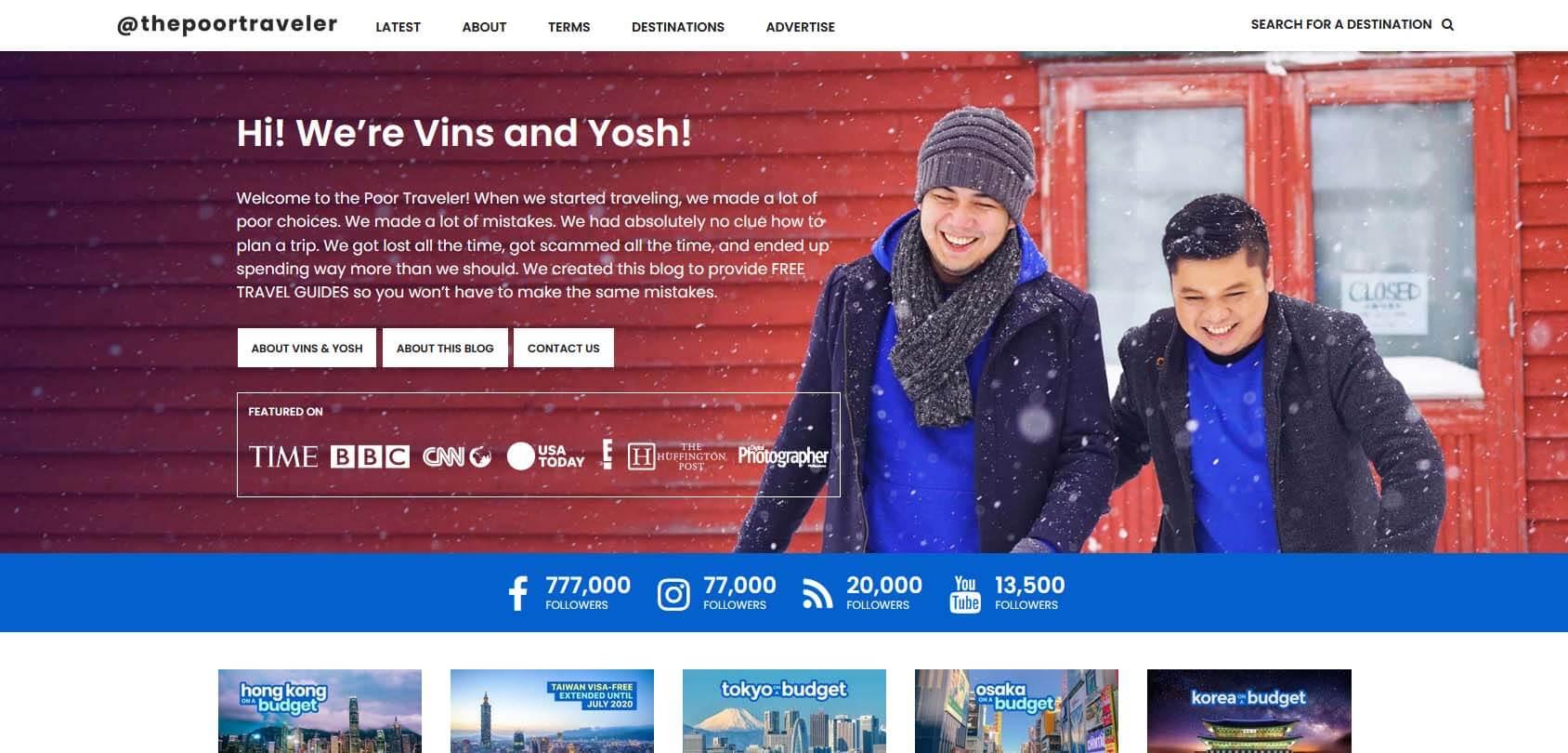 The Poor Traveler Homepage