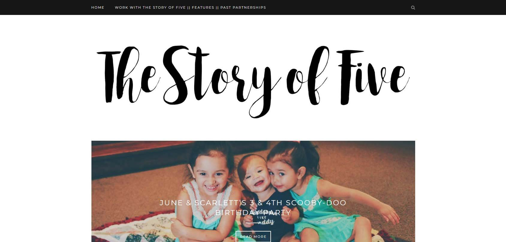The Story of Five Homepage