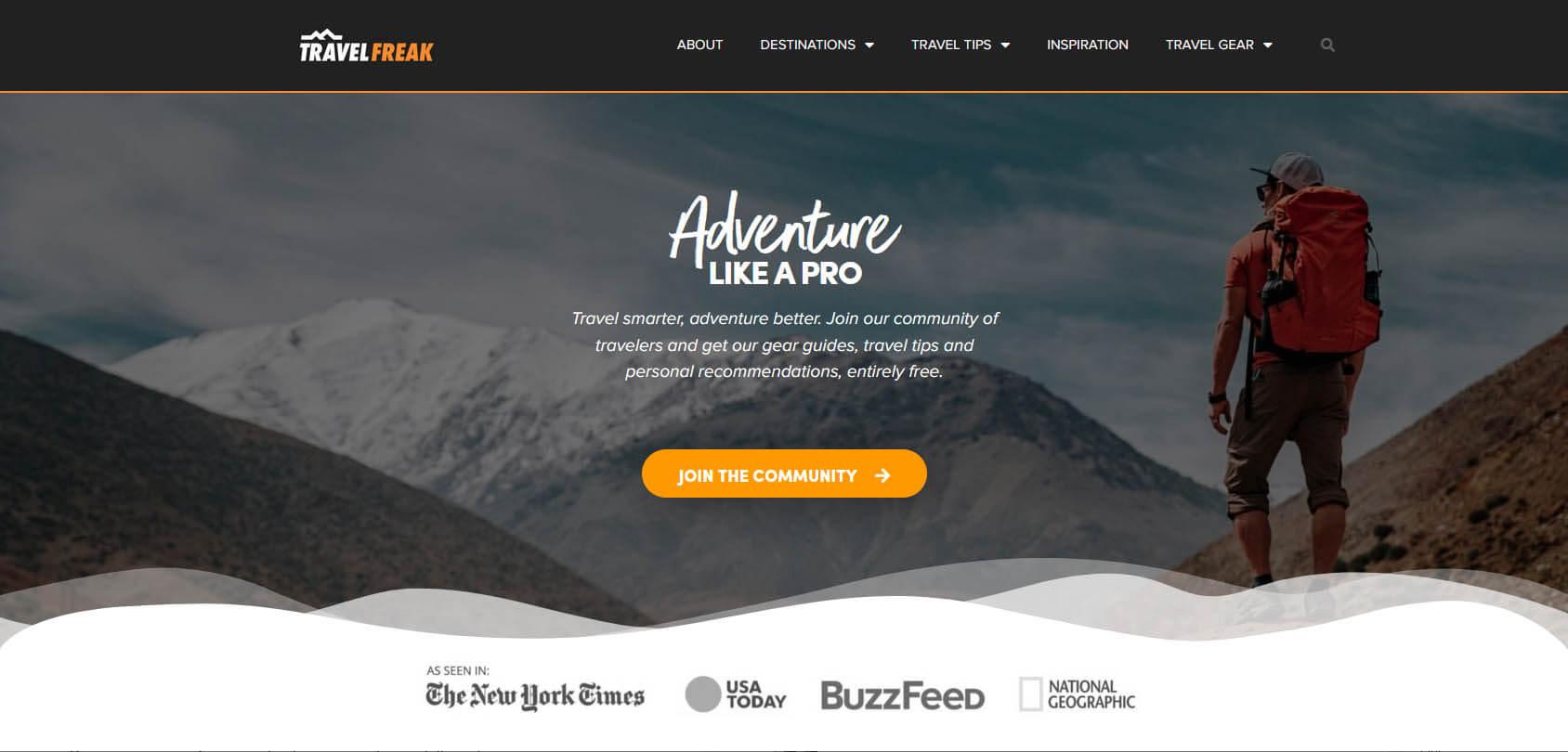 Travel Freak Homepage