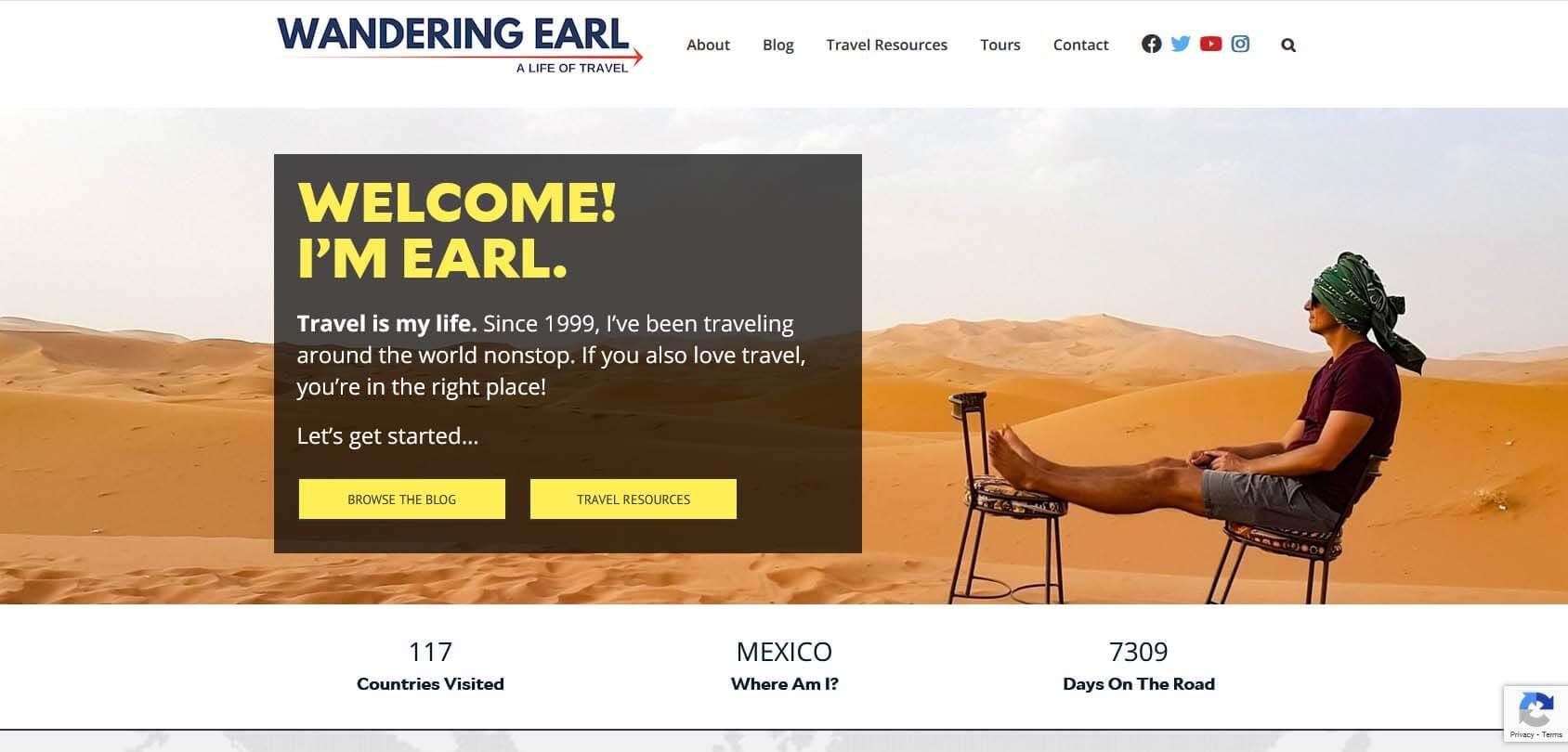 Wandering Earl Homepage