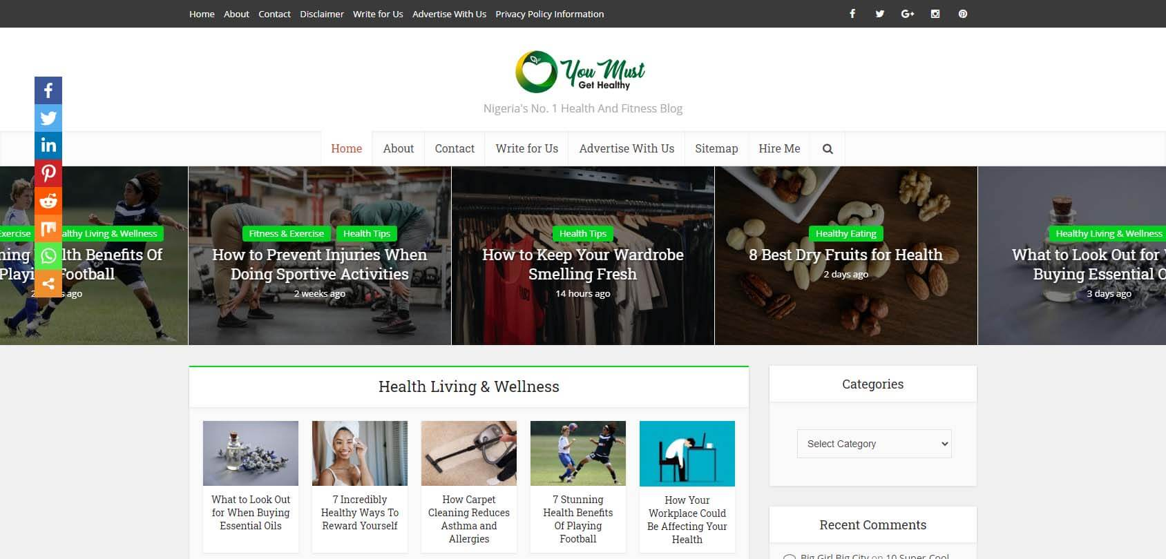 You Must Get Healthy Homepage