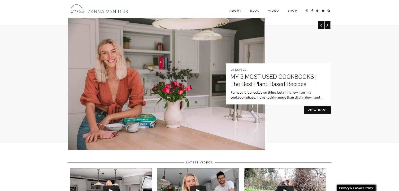 Zanna Van Dijk Homepage