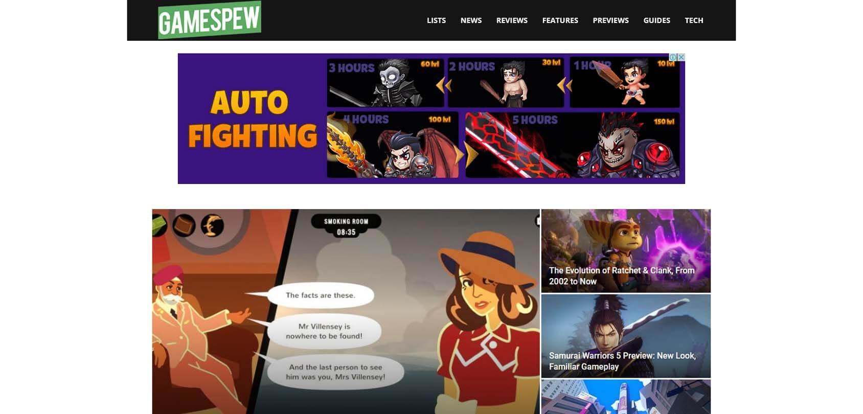 GameSpew Homepage