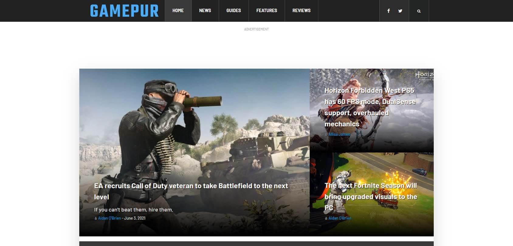 Gamepur Homepage