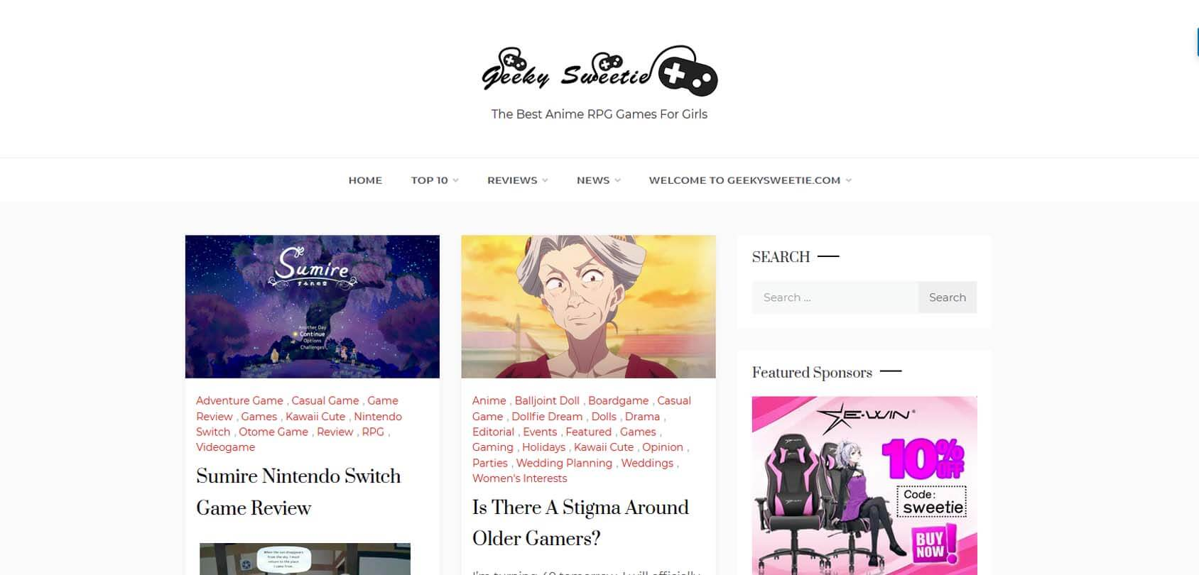 Geeky Sweetie Homepage