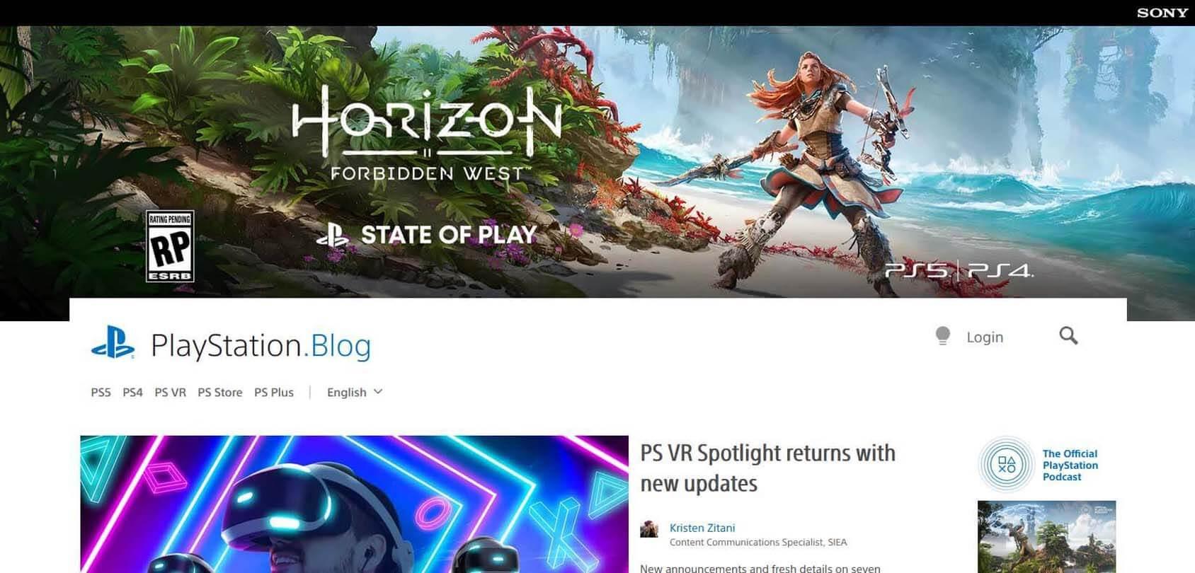 PlayStation.Blog Homepage