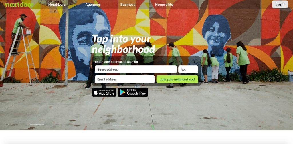 nextdoor homepage