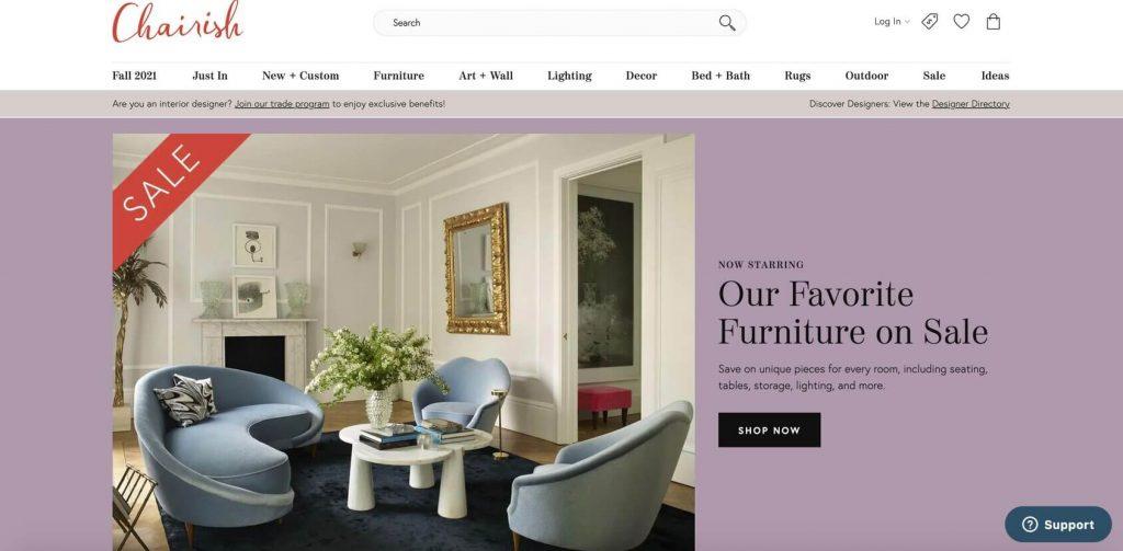 chairish homepage