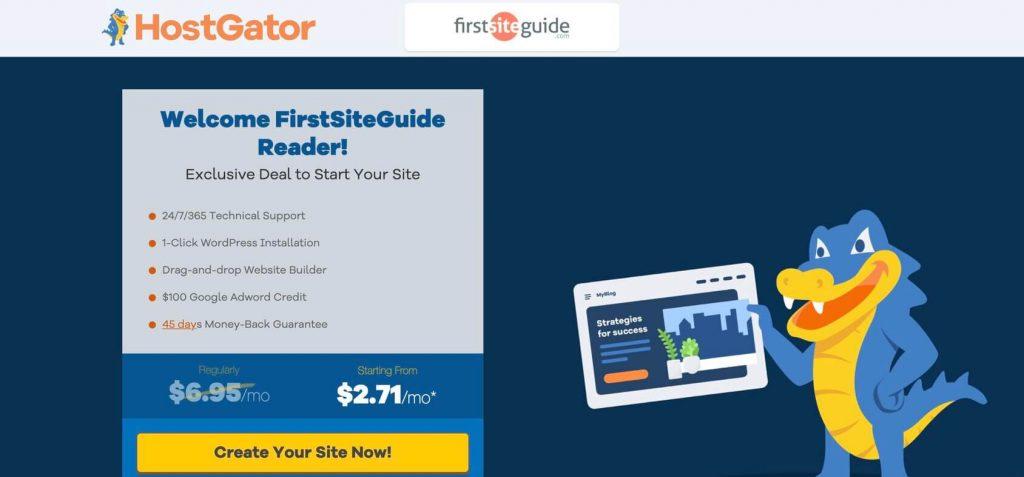 hostgator promo page