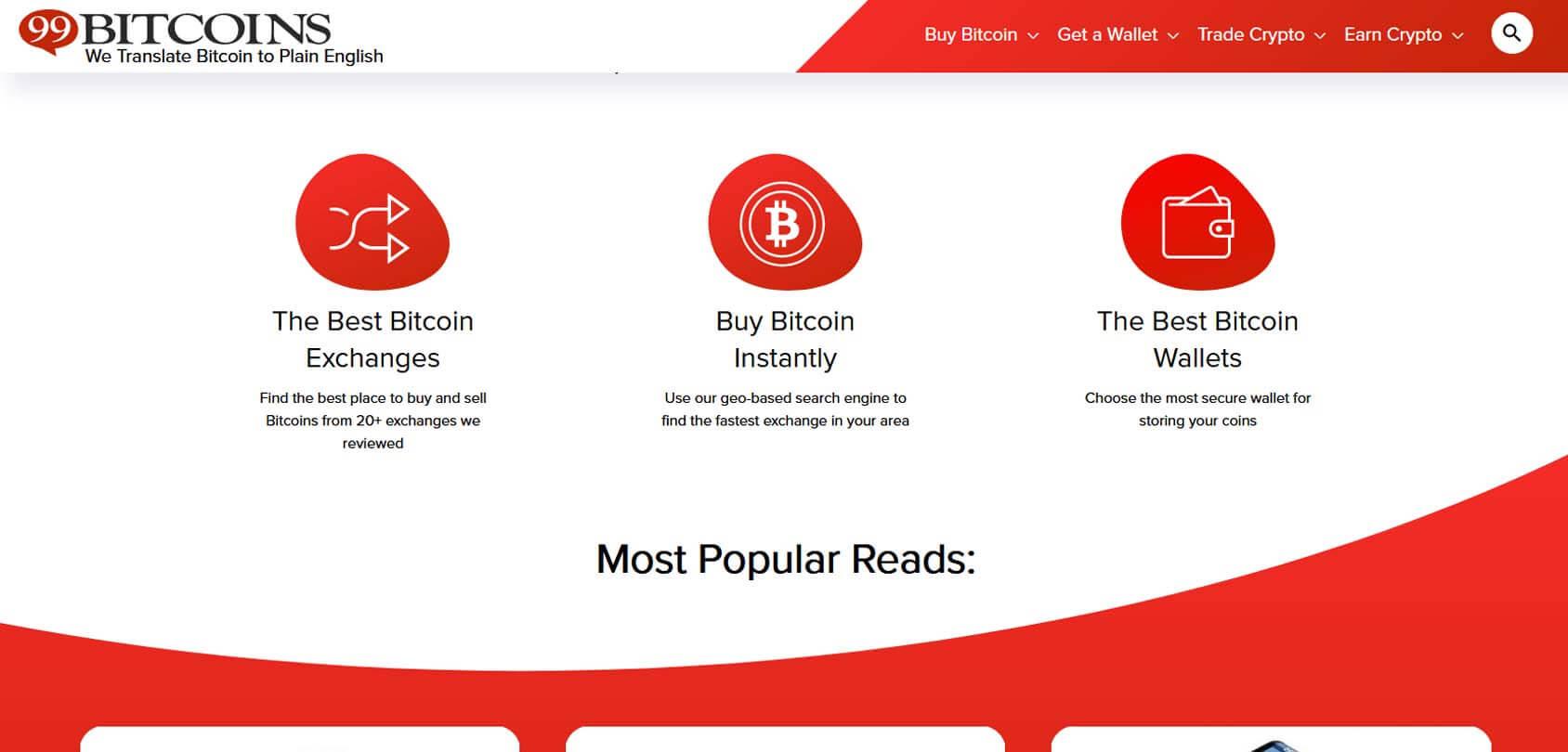 99Bitcoins Homepage